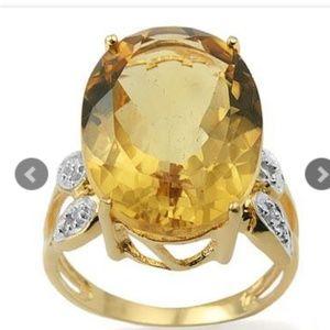 14k , 12 CTW Citrine fabulous ring